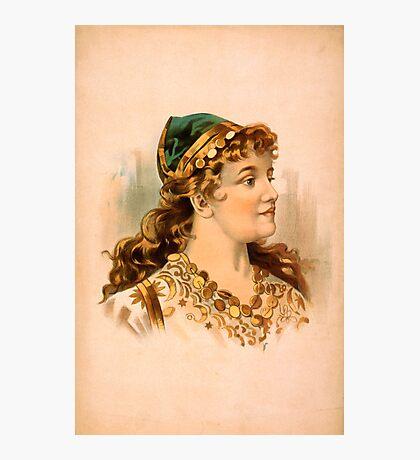 Portrait of a Blond Woman Photographic Print