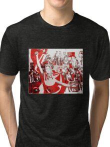 SOVIET COMMUNIST PARTY revolution fist Tri-blend T-Shirt