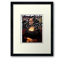 Mona Lisa on the Wall Framed Print