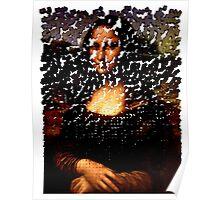 Mona Lisa on the Wall Poster