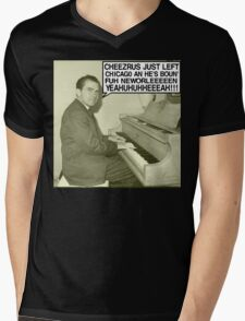 Richard Nixon sings Cheezrus Just Left Chicago Mens V-Neck T-Shirt