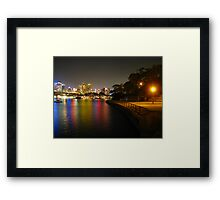 Night at Blues Point Reserve Framed Print