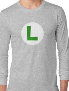 Super Mario Luigi Icon Long Sleeve T-Shirt