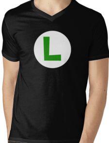Super Mario Luigi Icon Mens V-Neck T-Shirt