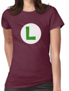 Super Mario Luigi Icon Womens Fitted T-Shirt