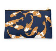 Swimming Japanese Carp – navy & orange Studio Pouch
