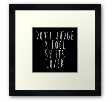 Don't Judge A Book By Its Cover Framed Print
