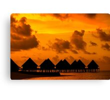 Golden Sunset in the Maldives Canvas Print