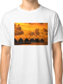 Golden Sunset in the Maldives Classic T-Shirt