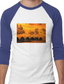 Golden Sunset in the Maldives Men's Baseball ¾ T-Shirt