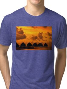 Golden Sunset in the Maldives Tri-blend T-Shirt