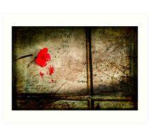 Crimson solitude Art Print