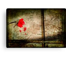 Crimson solitude Canvas Print
