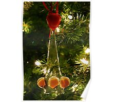 Glass Christmas Ornament Poster