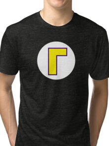 Super Mario Waluigi Icon Tri-blend T-Shirt