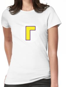 Super Mario Waluigi Icon Womens Fitted T-Shirt