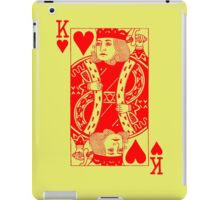 KING OF HEARTS-RED iPad Case/Skin