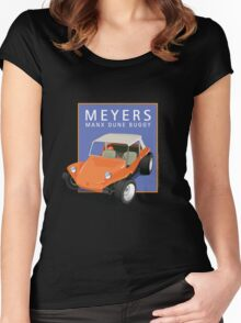Dune Buggy Manx Orange Blue Box Women's Fitted Scoop T-Shirt