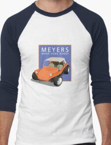Dune Buggy Manx Orange Blue Box Men's Baseball ¾ T-Shirt