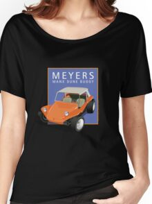 Dune Buggy Manx Orange Blue Box Women's Relaxed Fit T-Shirt