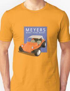 Dune Buggy Manx Orange Blue Box T-Shirt
