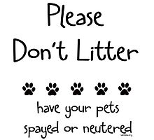 Please Don't Litter by Samitha Hess Edwards