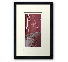 Trip to the Red Planet Framed Print