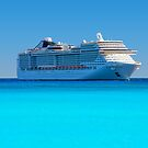 Luxury cruise ship in the Caribbean by Bruno Beach