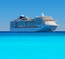 Luxury cruise ship in the Caribbean by Atanas Bozhikov NASKO