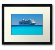 Luxury cruise ship in the Caribbean Framed Print