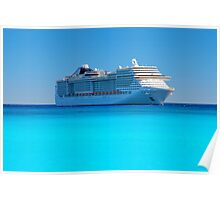 Luxury cruise ship in the Caribbean Poster