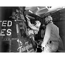 John Glenn Entering Friendship 7 Spacecraft Photographic Print