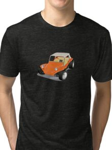 Dune Buggy Orange Manx Tri-blend T-Shirt