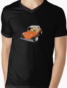 Dune Buggy Orange Manx Mens V-Neck T-Shirt