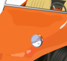 Dune Buggy Orange Manx Sticker
