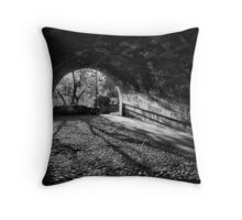 Light at tunnels end Throw Pillow