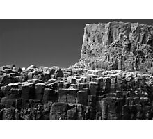 Cliffs, Isle of Staffa, Scotland Photographic Print
