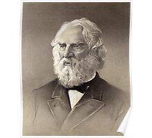 Portrait of Henry Longfellow Poster