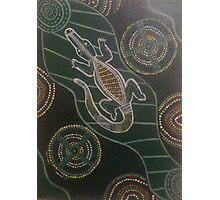 Swimming Crocodie Photographic Print