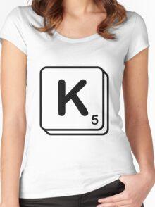 K scrabble print Women's Fitted Scoop T-Shirt