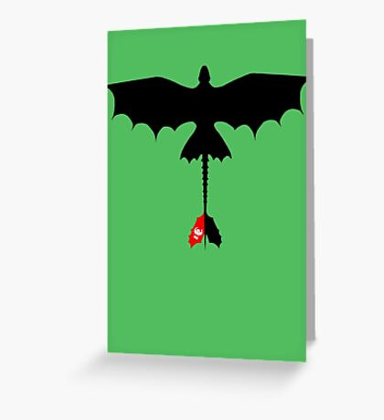 Toothless Silhouette Greeting Card
