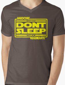 Hardcore Gamers Dont Sleep They Regenerate Mens V-Neck T-Shirt