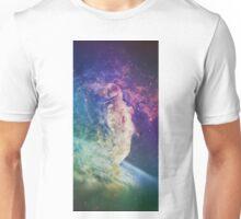 Astronaut dissolving through space Unisex T-Shirt