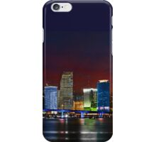 Miami City by Night iPhone Case/Skin