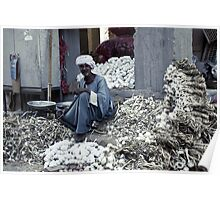 Garlic seller - Luxor, Egypt Poster