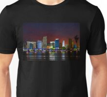 Miami City by Night Unisex T-Shirt