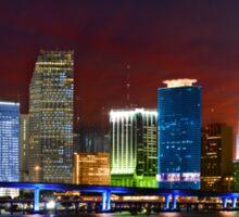 Miami City by Night Sticker