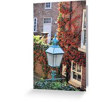 Blue lamp and red Berries Greeting Card