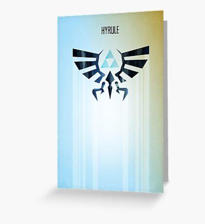 Legend of Zelda Hyrule Rising Minimal Vector Poster  Greeting Card