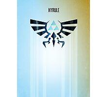 Legend of Zelda Hyrule Rising Minimal Vector Poster  Photographic Print